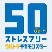 月額にプラスで最大50GBまで使える!