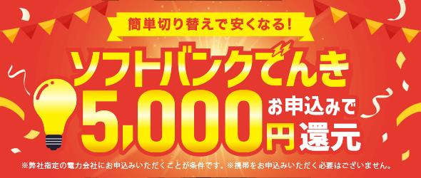 電気代お得キャンペーン 12000円還元