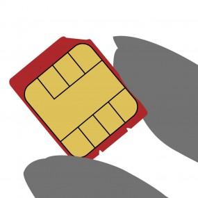 SIMカードって何?ケータイに差し込むこの小さなカードです。