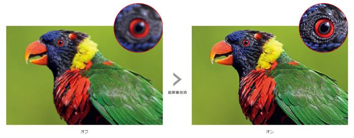 【Xperia X Performance】は超解像技術により美しい映像として再生します。