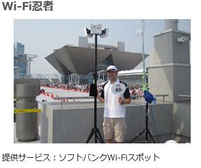 ソフトバンク電波改善 Wi-Fi忍者