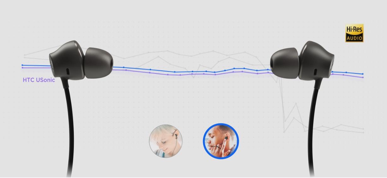 HTC U11は最新の「HTC Uソニック・ハイレゾ」を採用。雑音を防ぐアクティブ・ノイズキャンセレーション機能に加え、一人ひとりの聞こえ方に合わせて音をチューニングできます。