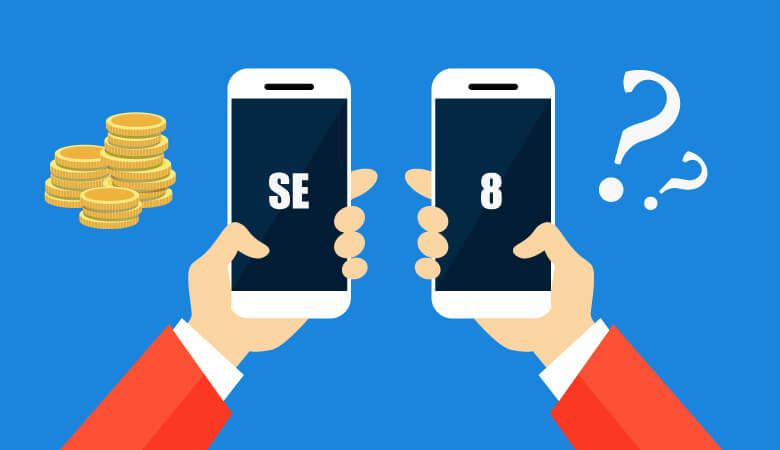 ワイモバイルからソフトバンクにiPhone8かSEに乗り換えた場合の月額料金