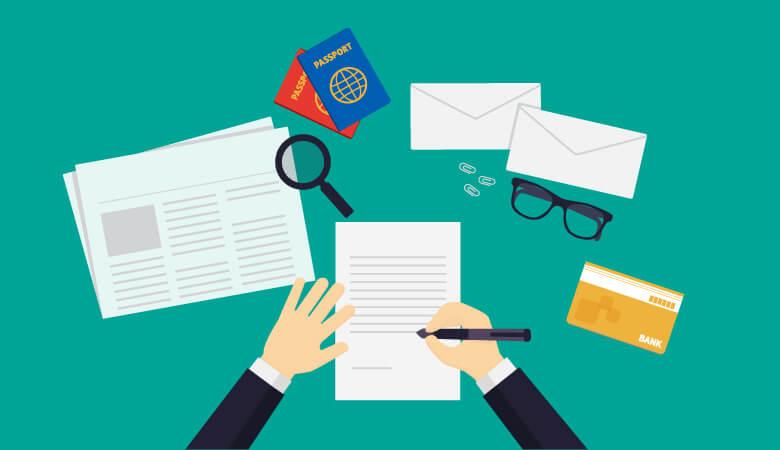 代理人受付では書類が増えます。