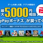 ソフトバンクならゲーム課金で最大5,000円相当が戻ってくる!