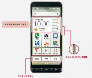 BASIO4 ① ボタン1つでよく使う連絡先に電話できる