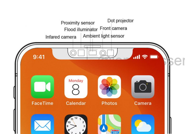 iPhone12 ノッチ