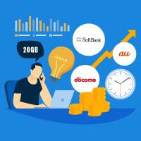ドコモ・au・ソフトバンクの新料金プラン「20GBプラン」を徹底比較/口コミ