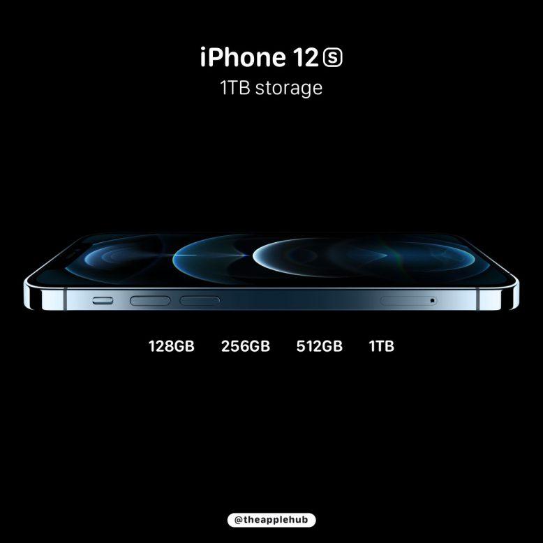 iPhone12S(13)のストレージ 128 256 512 1TB