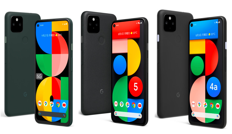 Google Pixel 5a (5G) / Pixel 5 / Pixel 4a (5G)のスペック比較まとめ
