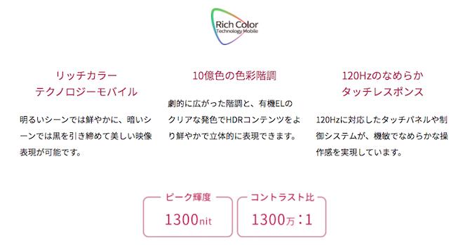 【ディスプレイ】シリーズ初のIGZO OLEDディスプレイ!美しさと省エネ性能アップ